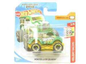 Hot Wheels Monster Dairy Delivery Green 76/365 Short Card 1 64 Scale Sealed New