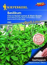 Kiepenkerl Semences Basilic Saatteppich Cino (Cannelle) Sweet Citron (Citron)