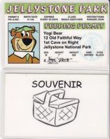 YOGI BEAR  drivers License / I.D. card - Old Faithful Way at Jellystone Park