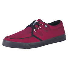 TUK CREEPER SNEAKER BURGANDY TWILL BLACK  SOLE Men UK6/ladies UK7 EU40 A8147