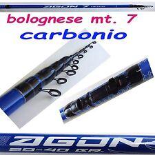 bolognese in carbonio metri 7 canna da pesca passata mare galleggiante spigola