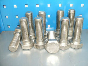 M24 x 70mm Stainless steel set screw bolt Qty 10 DIN931 A4-70