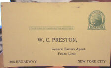 c1920s St Louis-San Francisco Railroad Freight forwarding postcard to NYC Agent