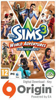 THE SIMS 3 WORLD ADVENTURES EXPANSION PACK PC AND MAC ORIGIN KEY