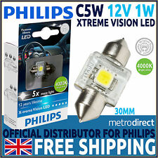 Philips X-treme Vision Festoon LED C5W 4000K 30MM Car Bulb (Single)
