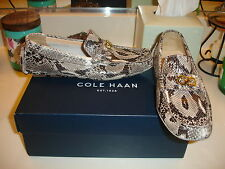 Cole Haan Shelby Logo reptile print Loafer Mocassin shoe Cute Nice $178 6.5