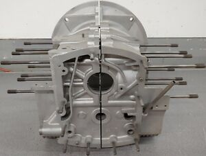 NICE PAIR ORIGINAL GENUINE PORSCHE 356B ENGINE BLOCK HALVES 1962 1600 NORMAL NLA