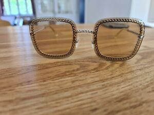 Chanel sunglasses 4244 authentic gold chain brown