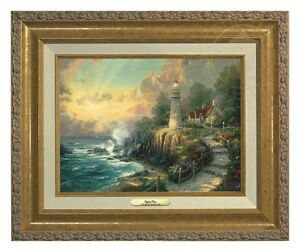 Thomas Kinkade Light of Peace 9 x 12 Canvas Classic (Gold Frame)
