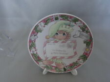 Enesco Precious Moments Girl 354465 I'm Sending You A Merry Christmas Mini Plate