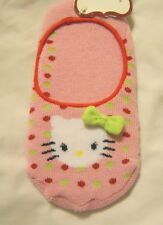 Hello Kitty Girls Slipper Socks Shoe Size 7.5-3.5 Pink