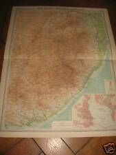 Map CAPE PROVINCE+TRANSVAAL E SECTION  BARTHOLOMEW 1920