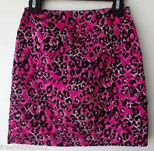 BCX Girl Pink/Black Print Paneled Pencil Skirt size Large (14) NWT G82533