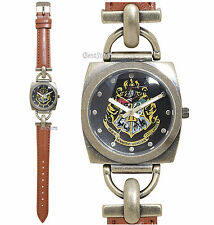 Harry Potter Hogwarts Crest Faux Leather Strap Women's Watch In Metal Tin NEW