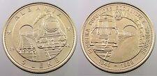 Albania Coin 5 Leke, 1988. 42nd Anniversary of 1-st Albanian railroads. BU, UNC
