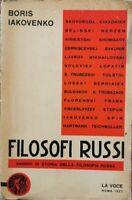 Filosofi Russi - saggio di storia della filosofia russa di Boris Iakovenko - ER