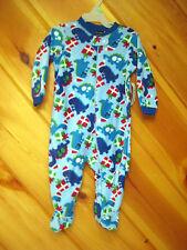Brand New Blanket Pajamas 6-9 M Blue Fleece Faded Glory Santa Dinosaur Baby