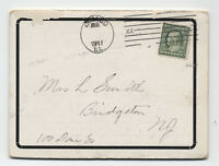 1911 Chicago XX Time-Marking machine cancel on foldout ad postcard [3887]