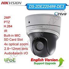 Hikvision DS-2DE2204IW-DE3 2MP Mini PTZ 4x Optic Zoom PoE P2P MIC HD IP Camera