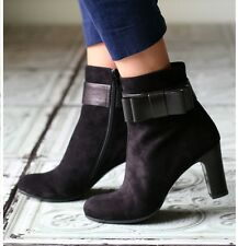 CHIE MIHARA SHOES FRIENDS BOOTIES BLACK LEATHER ANKLE BOOTS 40 $485