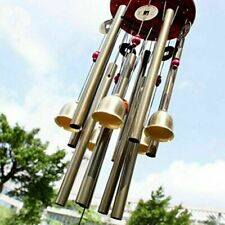 Usa Large Wind Chimes 4 Tube 5 Bells Copper Church Bell Outdoor Garden Decor