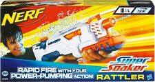 Brand New NERF Super Soaker RATTLER Water Pistol BLASTER White RARE