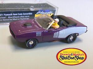 D&M 1971 Hemi Cuda Convertible HO Slot Car Custom RARE T-Jet Prototype!