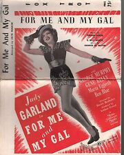 For Me And My Gal 1917 Judy Garland Orchestration Sheet Music