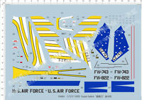 1/72 F-100D Super Sabre Fighter Model Kit Water Decal