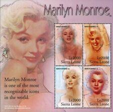 MODERN GEMS - Sierra Leone - Marilyn Monroe - Sheet of 4 - MNH