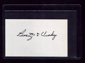 VTG DETROIT TIGERS/PHILADELPHIA ATHLETICS BARNEY McCOSKY SIGNED INDEX DEBUT 1939