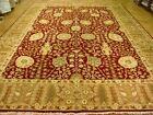 Jaipur Hand-Knotted Area Rug 14 x 21 Burgundy Carpet Natural Wool PIX-66