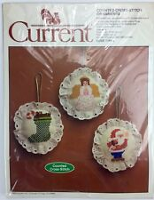 Christmas Ornaments Current Counted Cross Stitch Kit Vintage 1983