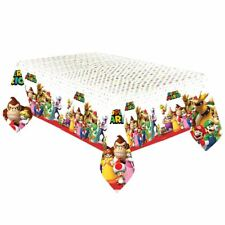 Nintendo Super Mario Plastic Tablecover 1.37m x 2.43m Birthday Party Tableware
