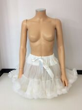 Bella Ame White Ruffled Tutu Skirt Age 14 -15 Years  Vgc
