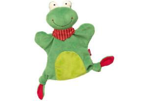 Sigikid 41986 Handpuppe-Schnuffeltuch Frosch