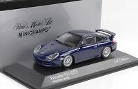 1999 Porsche 911 996 GT3 blue blau metallic 1:43 Minichamps