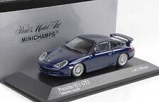 1999 Porsche 911 996 GT3 azul azul metálico 1:43 Minichamps