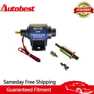 Autobest 12S Universal Electric Fuel Pump 12V Application 35 GPH Gasline 4-7 PSI