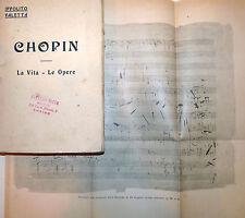 TEATRO MUSICA - Ippolito Valetta: Chopin 1921 Bocca biografia con illustrazioni
