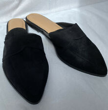 Mens ASOS- Size 9 Slipper Mules Black Suede-M 3