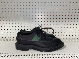 Calvin Klein Carper Mens Leather Wingtip Dress Shoes Oxfords Size 8 Black Green