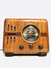 ANTIQUE OLD 1938 ZENITH 5-S-218 W/ GLASS DIAL CUBE TUBE ART DECO VINTAGE RADIO