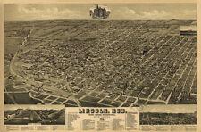 Lincoln Nebraska c1889 map 36x24