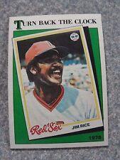 L#240 1988 Topps #662 Turn Back Clock (Jim Rice) Boston Red Sox, NrMt