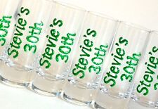 Personalised 18th 21st 30th 40th 50th Birthday Party Gifts Glitter Shot Glasses