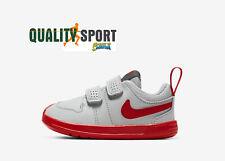 Nike Pico 5 Grigio Rosso Scarpe Shoes Bambino Infant Sneaker AR4162 004 2020