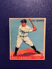 1933 Goudey Lou Gehrig Rookie Card #92 - baseball read description