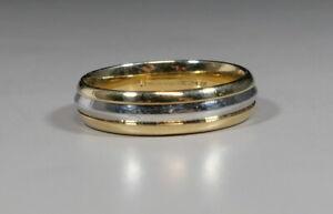 ArtCarved 18K GOLD & PLATINUM 4.5 MM WIDE COMFORT FIT WEDDING BAND SIZE 6