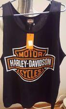 Harley Davidson  Motor Cycle Tee Nassau Bahamas Sleeveless T Shirt NWT
